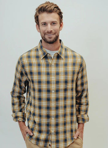 The Normal Brand Nikko Plaid Button up is so soft and looks great layered or worn alone. Shop Bennetts Clothing and receive same day shipping