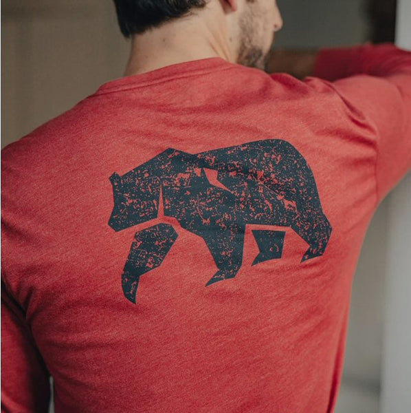 The Normal Brand Worn In Bear Long Sleeve Tee-Red