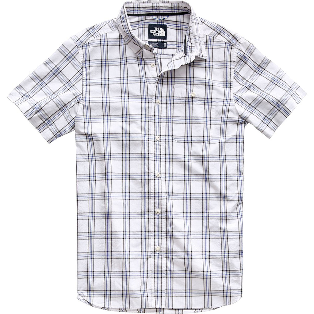 2c25cd0a6 The North Face Men's Buttonwood Short Sleeve Sport Shirt-White-Sterling  Plaid