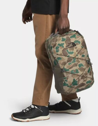 The North Face Jester Duck Camo Backpack-Hawthorne Khaki-New Taupe Green