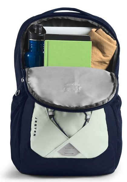 The North Face Women's Jester Backpack-Tin Grey-Montague Blue