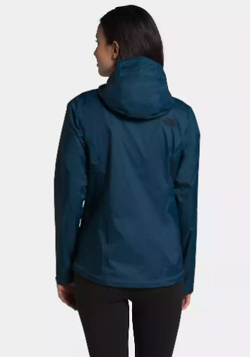 The North Face Womens Venture 2 Rain Jacket-Blue Wing Teal