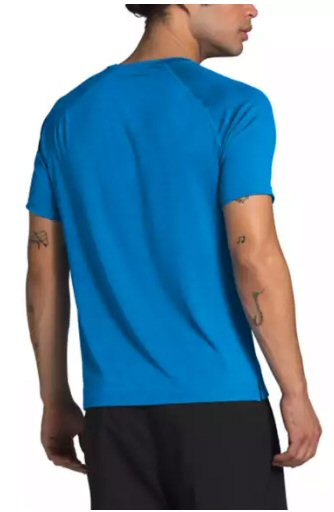 The North Face Hyperlayer FlashDry Short Sleeve T-shirt-Clear Lake Blue