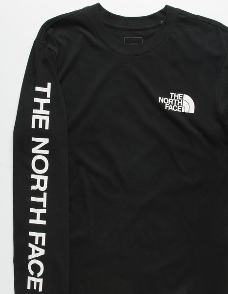 The North Face Reaxion Graphic Long Sleeve T-Shirt-Black