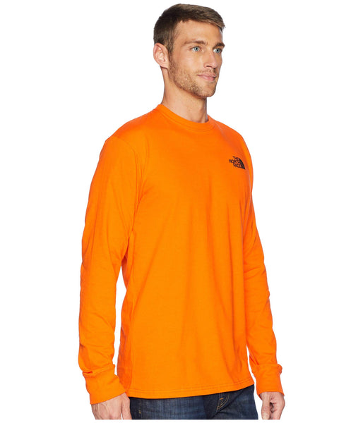 The North Face Long Sleeve Red Box Tee-Persian Orange-Black