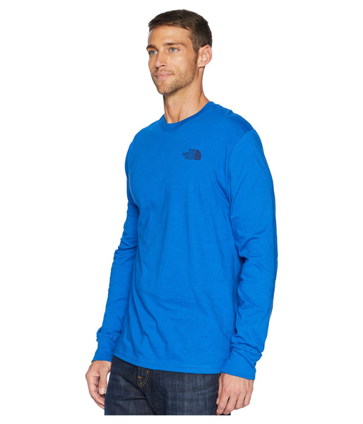 The North Face Long Sleeve Red Box Tee-Turkish Sea-Flag Blue