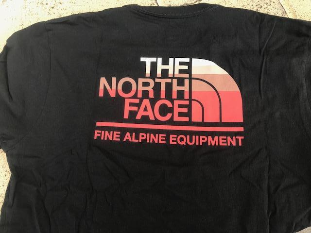 The North Face Long Sleeve Gradient Tee-TNF Black