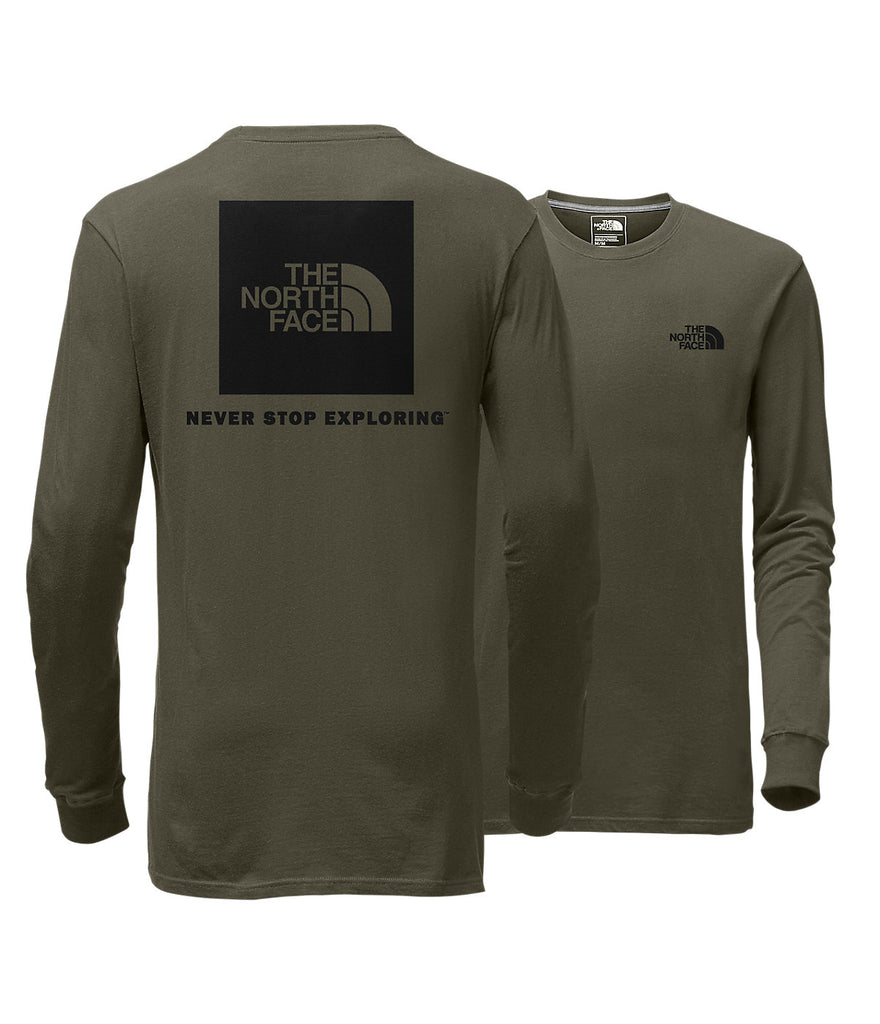 The North Face Long Sleeve Red Box Tee-Burnt Olive