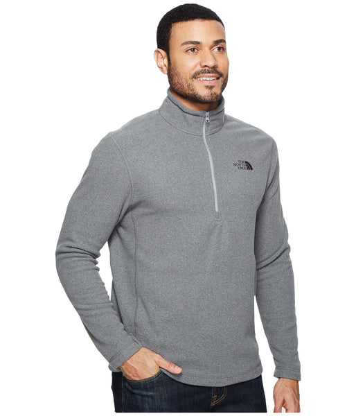 The North Face Men's TKA 100 Glacier 1/4 Zip Pullover-Medium Grey Heather