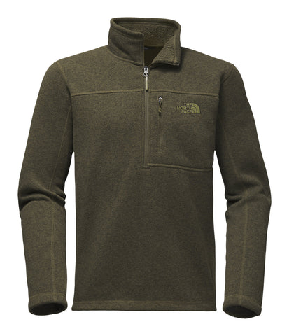 The North Face Mens Gordon Lyons 1/4 Zip Pullover-Taupe Green