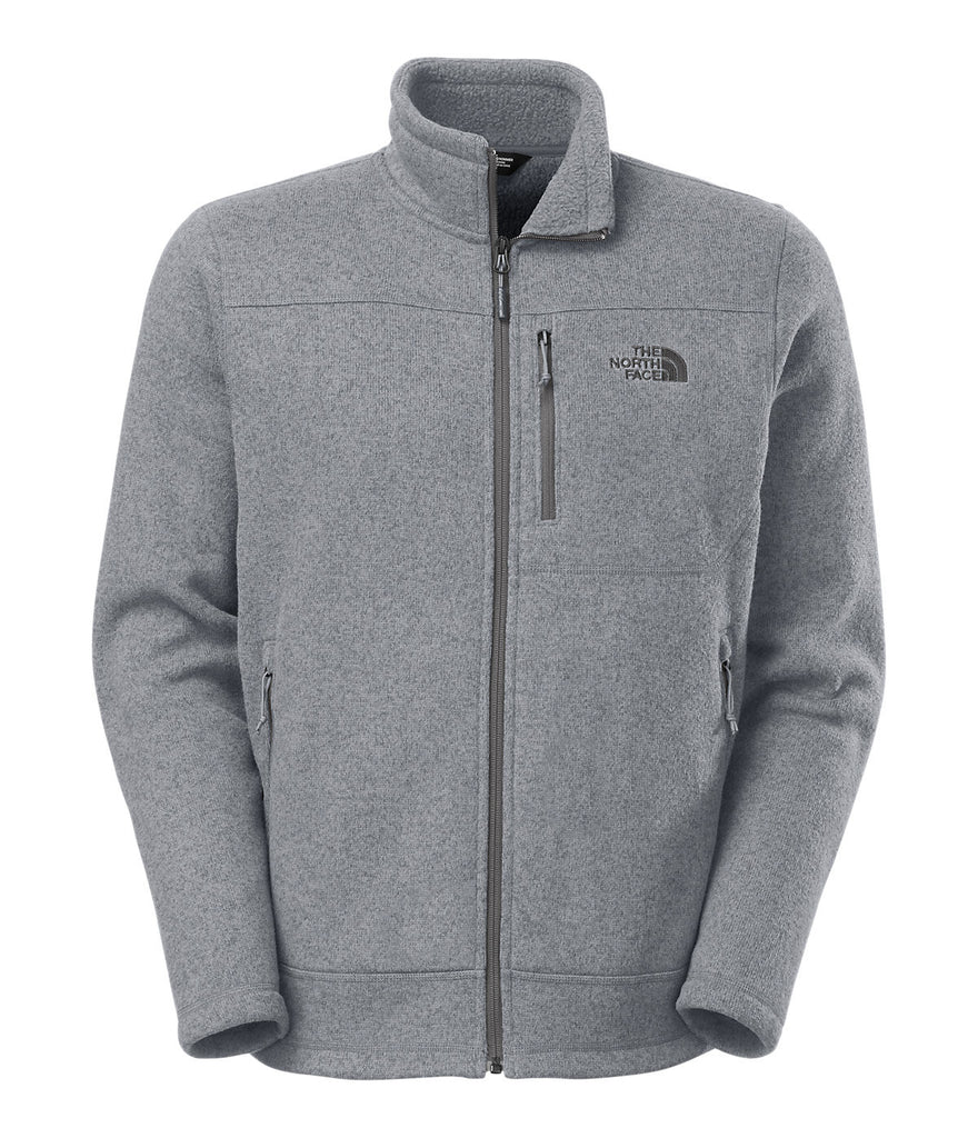 The North Face Mens Gordon Lyons Full Zip-Medium Grey Heather - Bennett's Clothing