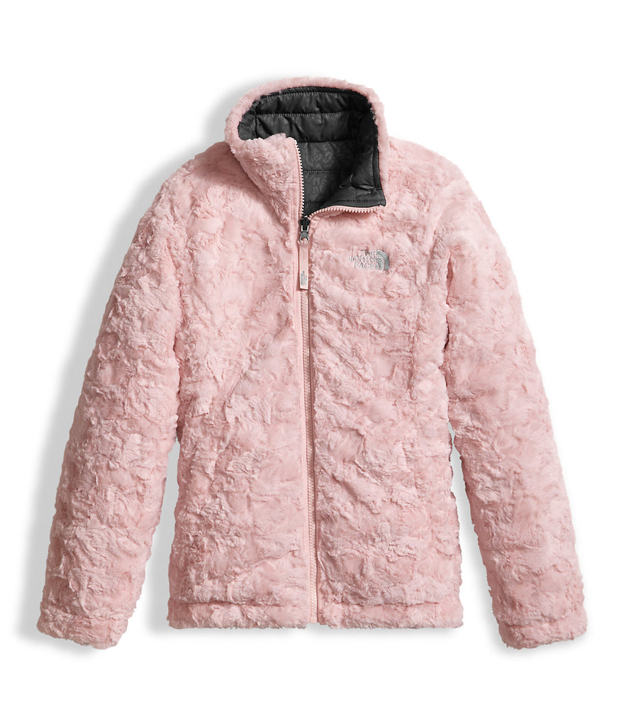 41f3799db24 The North Face Girls Reversible Mossbud Swirl Jacket-Graphite Grey ...