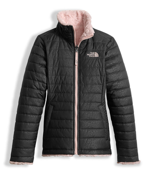 The North Face Girls Reversible Mossbud Swirl Jacket-Graphite Grey