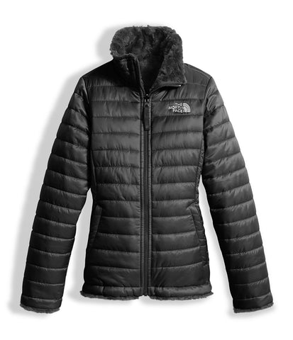 The North Face Girls Reversible Mossbud Swirl Jacket-TNF Black