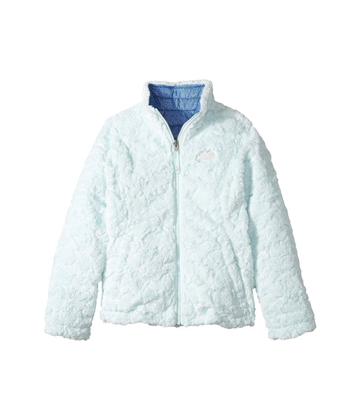 The North Face Girls Reversible Mossbud Swirl Jacket-Bright Navy-White