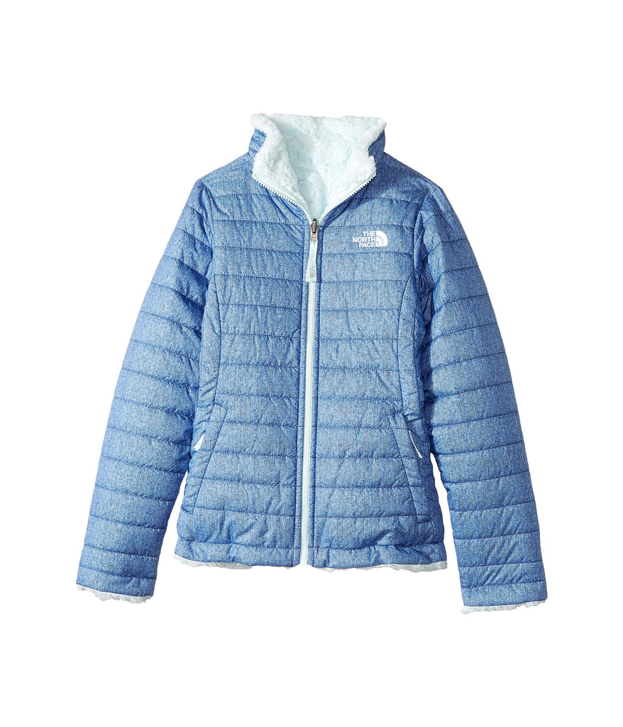 e65e3ccb2 The North Face Girls Reversible Mossbud Swirl Jacket-Bright Navy-White