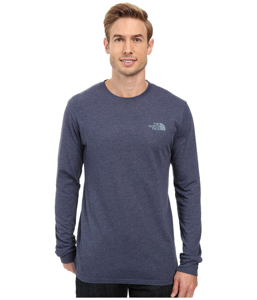 The North Face Long Sleeve Red Box Tee-Cosmic Blue - Bennett's Clothing - 2