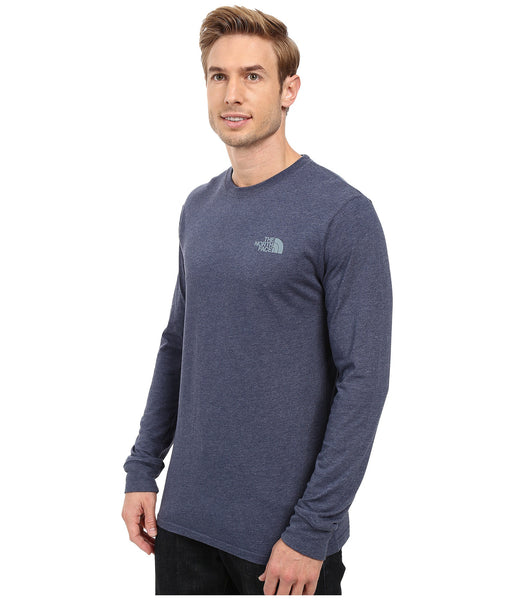 The North Face Long Sleeve Red Box Tee-Cosmic Blue - Bennett's Clothing - 3
