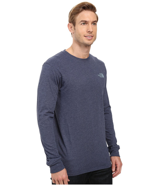 The North Face Long Sleeve Red Box Tee-Cosmic Blue - Bennett's Clothing - 4