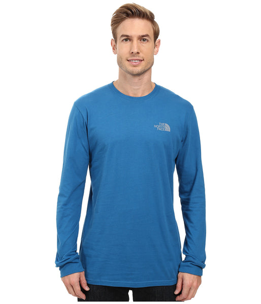 The North Face Long Sleeve Red Box Tee-Banff Blue-Grey - Bennett's Clothing - 2