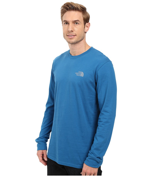 The North Face Long Sleeve Red Box Tee-Banff Blue-Grey - Bennett's Clothing - 3