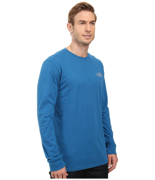 The North Face Long Sleeve Red Box Tee-Banff Blue-Grey - Bennett's Clothing - 4