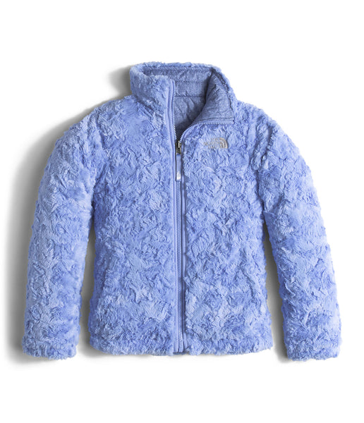 The North Face Girls Reversible Mossbud Swirl Jacket-Grapemist Blue Denim Print - Bennett's Clothing - 2