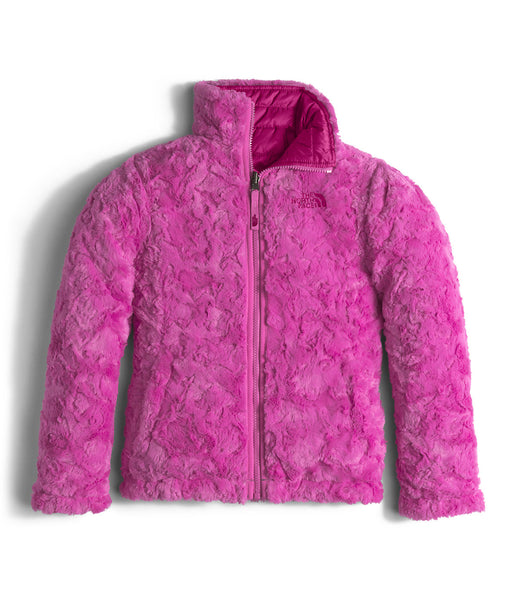 The North Face Girls Reversible Mossbud Swirl Jacket-Roxbury Pink - Bennett's Clothing - 2