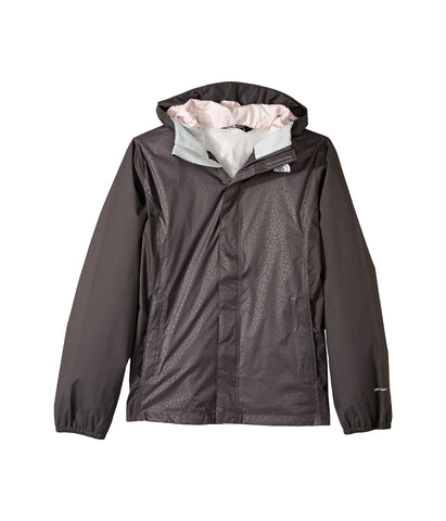 The North Face Boys Resolve Reflective Rain Jacket-Graphite Grey