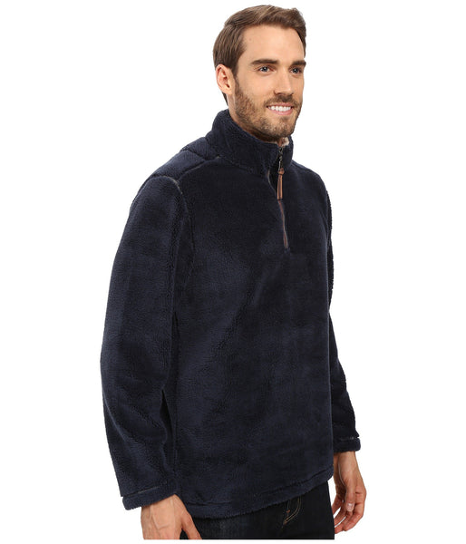 True Grit Pebble Pile 1/2 Zip Fleece Pullover-Vintage Denim