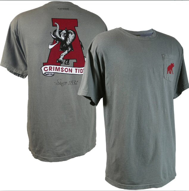 Tuskwear Vintage A logo t-shirt is those old school Tide fans. Shop Bennetts Clothing for your Alabama gameday gear and receive same day shipping