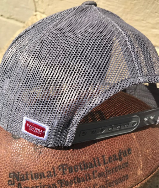 Tuskwear Collegiate Pride State Trucker Hat-Charcoal-Grey