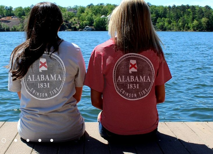 Tuskwear 1831 Badge t-shirts -Shop Bennetts Clothing for your Alabama tees and receive same day shippings