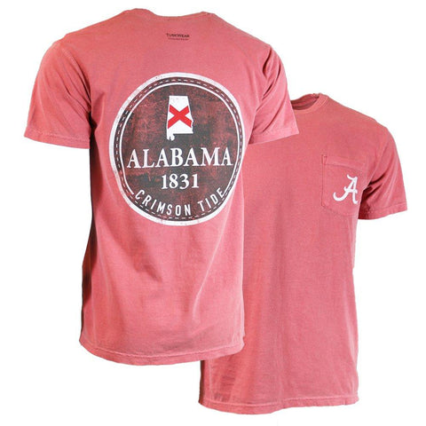 Tuskwear 1831 Badge t-shirt displays your pride for Alabama. Shop Bennetts Clothing for your Alabama gameday gear and receive same day shipping