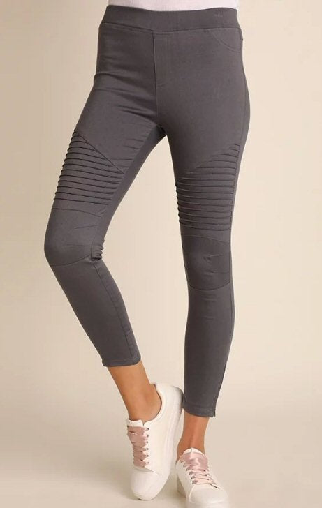 UMGEE Moto Jeggings-Charcoal