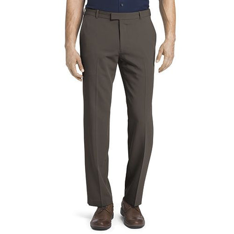 Van Heusen Flex Flat-Front Pants-Chocolate Brown