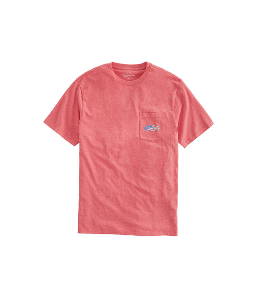 Vineyard Vines USA Surf Logo Short Sleeve Pocket T-shirt-Jetty Red
