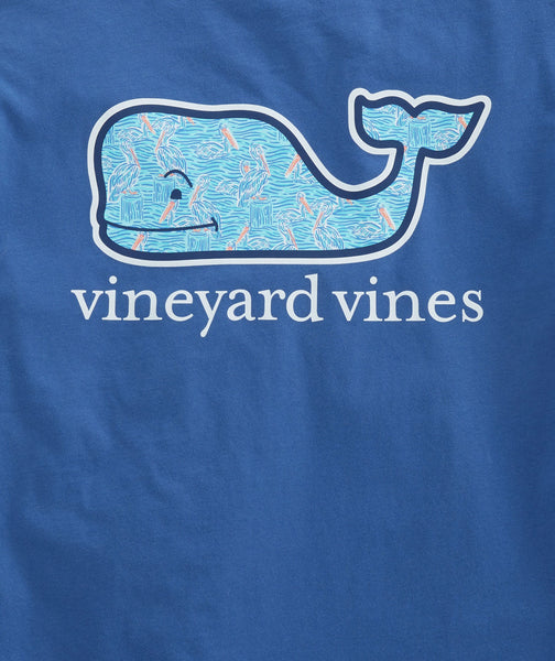 Vineyard Vines Pelicans Whale Fill Short Sleeve T-shirt-Moonshine