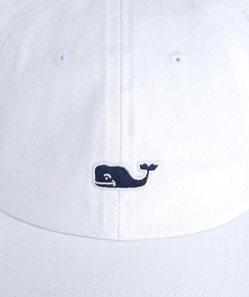 Vineyard Vines Whale Logo Baseball Hat-White Cap