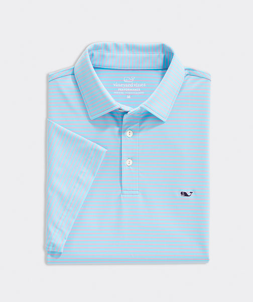 Vineyard Vines Bradley Stripe Sankaty Performance Polo has easy on-the-go looks when heading to the course. Shop Bennetts Clothing for a large selection of the latest fashions from Vineyard Vines