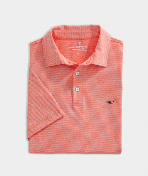 Vineyard Vines St. Jean Stripe Sankaty Performance Polo has easy on-the-go looks when heading to the course. Shop Bennetts Clothing for a large selection of the latest fashions from Vineyard Vines