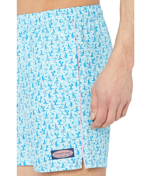 Vineyard Vines Printed Chappy Swim Trunks-Sea Splash