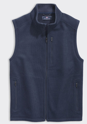 Vineyard Vines Mountain Sweater Fleece Vest has classy looks and will keep the chills at bay.  Shop Bennett's for the brands you want, shipped same day to your front door.
