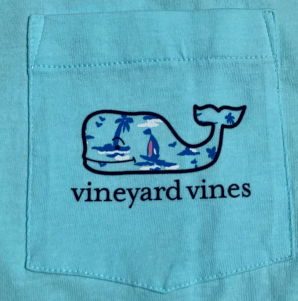 Vineyard Vines Atlantic Sailing Whale Fill Short Sleeve T-shirt-Sea Splash
