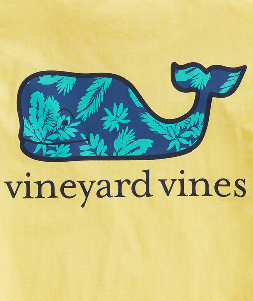 Vineyard Vines Floral Whale Fill Short Sleeve T-shirt-Cold Lemonade