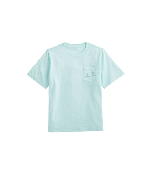 Vineyard Vines Vintage Sunkissed Boy's Whale T-shirt-Crystal Blue