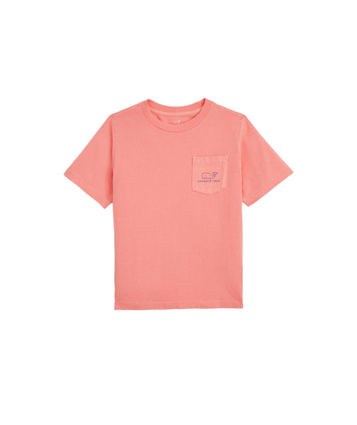 Vineyard Vines Vintage Sunkissed Boy's Whale T-shirt-Strawberry Blonde