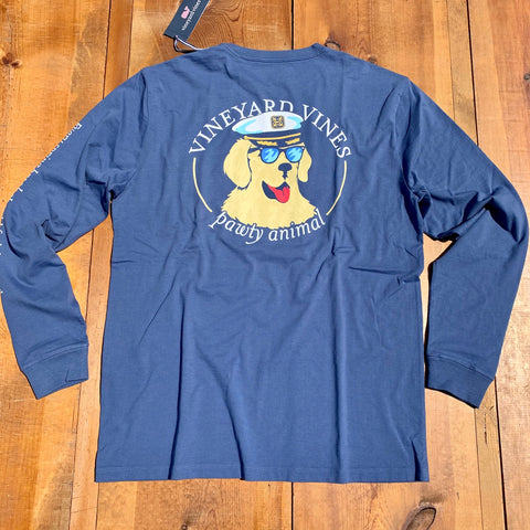 Vineyard Vines Long Sleeve Pawty Animal Tee is perfect for wearing out to the pub or beachside bar cool evenings. Shop Bennetts Clothing for a large selection of the latest fashions from Vineyard Vines