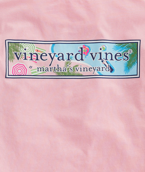 Vineyard Vines Resort Pool Logo Short Sleeve T-shirt-Hibiscus