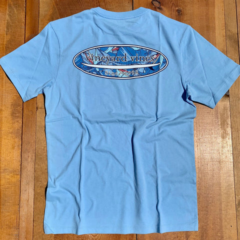 Vineyard Vines Sailfish & Birds Surf T-shirt shows you you have style and the surfer swag to go with it. Shop Bennetts Clothing for a large selection of the latest fashions from Vineyard Vines